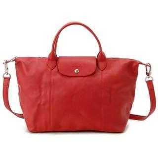 🚚 Longchamp Le Pliage Cuir Large Shopping Tote