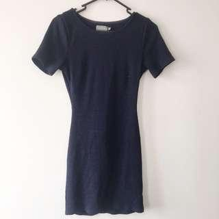 Indikah navy cut out dress