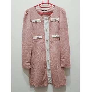 🚚 降價 氣質感連身粉嫩洋裝 中國製造