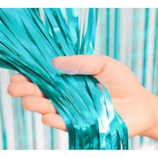 Chrome Curtain - Turquoise (2 m)