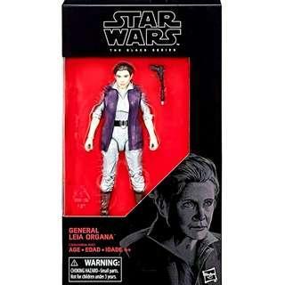 MISB Star Wars Black Series General Leia Organa #52 Action Figure