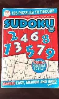 數獨遊戲書(澳洲購入)SUDOKU for kids(bought in Australia)