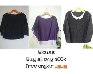 Blouse & Batwings Ungu