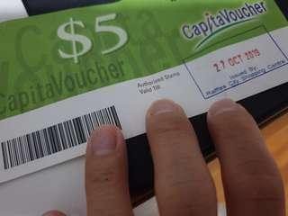 🚚 $50 worth of Capitaland voucher