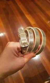 Great Condition Gold Real Leather belt