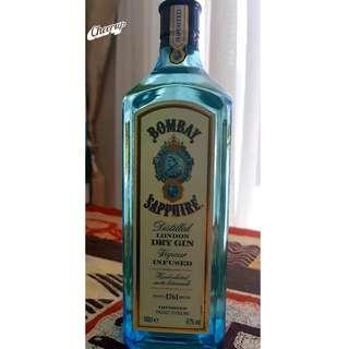 Bombay Sapphire Dry Gin 1 Litre *Sealed and Unopened*