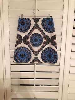 MinkPink Psychedelia print mini skirt, size S