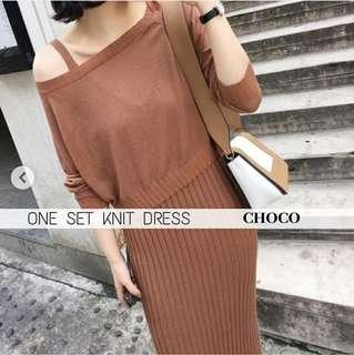 ONE SET KNIT DRESS (dapat satu set)