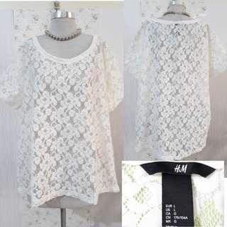 H&M BLOUSE LACED COVER UP