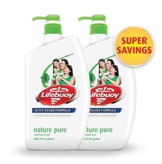 🚚 Lifebuoy Body wash Nature Pure (1LX2)