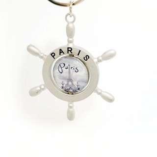 🚚 巴黎帶回 巴黎鐵塔水手風格船陀造型鑰史圈 紀念品 法國 巴黎鐵塔 鑰史圈 水手 船陀