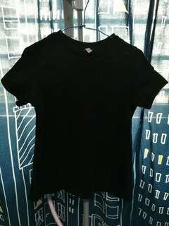 Drapey split back tshirt