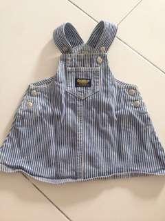 Denim Oshkosh Skirt Overall
