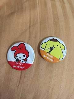 Sanrio x Energy pins set