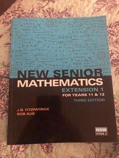 Mathematics Extension 1 Year 11 and Year 12, New edition