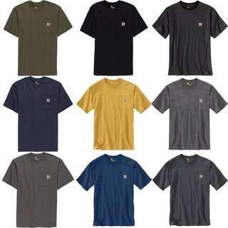【預訂】Pre-order Carhartt (K87) Workwear Pocket T-Shirt 18色
