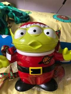 絕版 🈹割愛 全新 聖誕版三眼仔爆谷桶  香港🇭🇰迪士尼 罕有 只有一隻機會難逢 清屋割愛