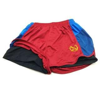 OCS Unisex Maroon Running Shorts with Inner Black Tights. Size XSmall, Small (Sold Out), Medium, Large & Xlarge. It's Basically OCS Old Design Maroon PT Shorts with Inner Tights. Maroon True Correct Colour is in Picture 6, 7, 8.