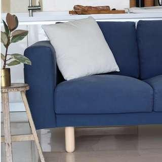 🚚 Dark Blue 3-seater Sofa with washable covers