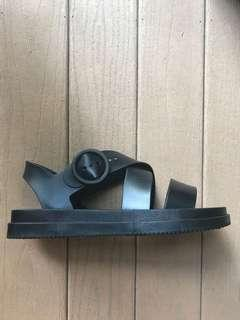 Never worn before black Greek-style strappy sandals