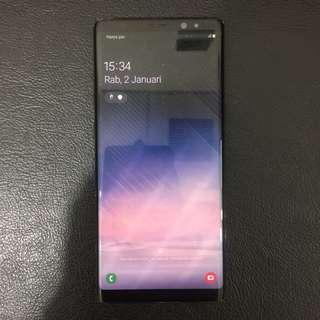 Samsung Note8 6/64 Black ex Sein Fullset Bisa Tt
