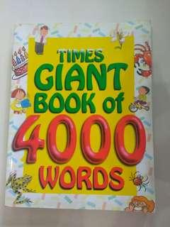 🚚 Times Giant Book of 4000 Words