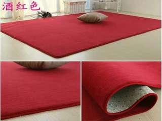 酒紅色地毯
