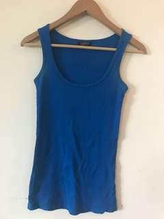 Topshop Electric Blue Tank Top