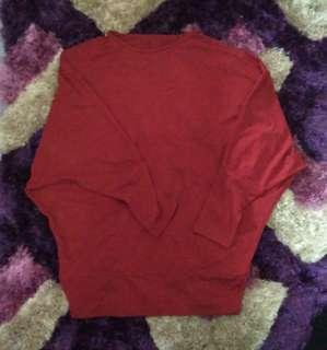 Atasan batwing jersey merah