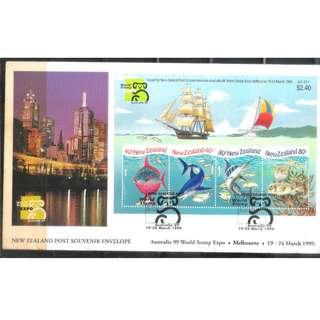New Zealand First Day Covers with stamps