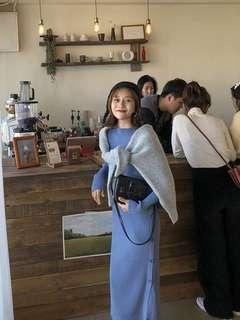 🚚 全新超美開衩毛衣裙/洋裝(含運)