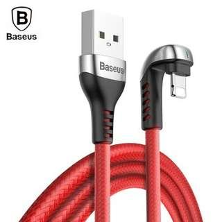 Baseus U-shaped Green Lamp Mobile Game 8 Pin Cable Fast Charging