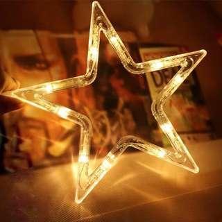 (J3) LED Star String Curtain Fairy Lights