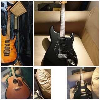 Wtt /s guitars ( fender , Gibson, duesemberg, Greco ibanez , Martin etc)