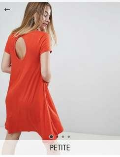 🚚 BNWT Brave soul swing dress with keyhole back detail in racer red