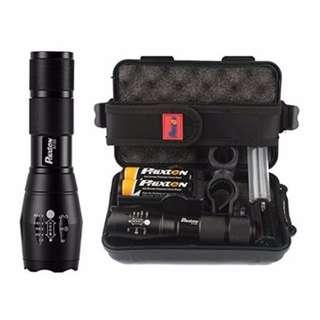 (J1) Genuine Phixton Tactical Flashlight with Gift Case included **Limited Time Bundle Deal On Now**