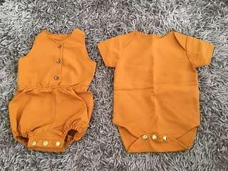 Custom Bodysuit / Jumper / Romper Mustard Yellow Gold
