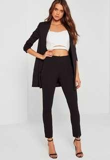 Missguided black skinny fit cigarette pants