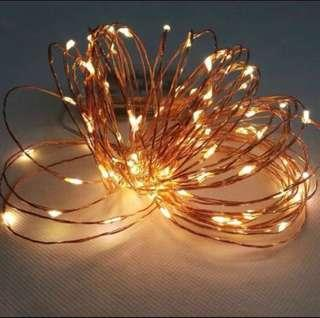 🚚 Cheapest in Carousell ‼️ Fairy Light 10m Silver wire/ Copper wire Warm light/ White light