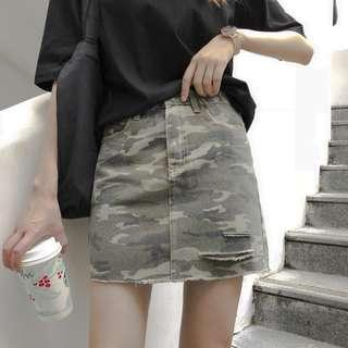 Women Camo Mini Skirts
