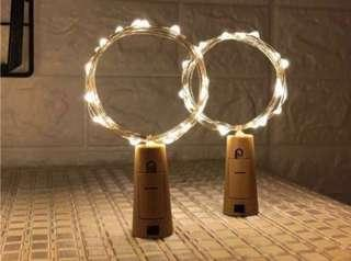 🚚 Cheapest in Carousell ‼️Cork Shaped Fairy Lights 2m 20LED Warm Light