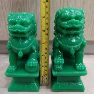 PAIR Fu Dog Foo Dog Chinese Guardian Lions Statue 6.5 inch