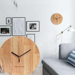 BASSWOOD WALL CLOCK MINIMALIST DESIGN