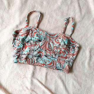 F21 Abstract cropped bralet