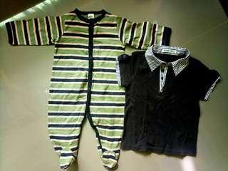 Free shipping! Sleepsuit and Baby Polo Shirt