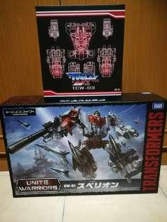 Transformers Unite Warriors Superion with upgrade kit