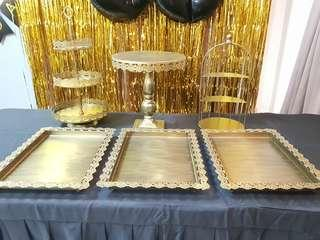 Rent Gold Colour Dessert Display