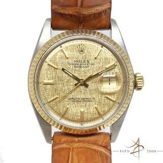 Rolex Oyster Perpetual Datejust Ref 1601 Linen Dial Vintage Watch (Year 1977)