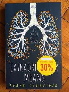 Preloved English Novel - Extraordinary Means by Robyn Schneider