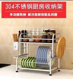 不銹鋼廚房碗架筷子架收納架